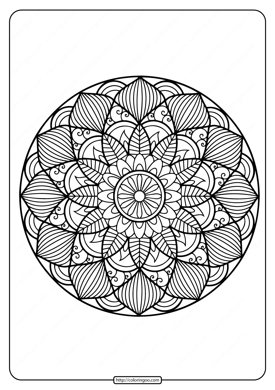 13 Best Fractal Coloring Pages images | Coloring pages, Adult ... | 1344x950