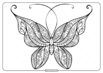 Printable Butterfly Mandala PDF Coloring Pages 49