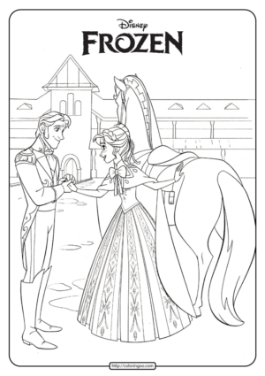 Disney Frozen Anna and Hans Coloring Pages 02