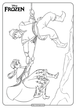 Disney Frozen Anna and Kristoff Coloring Pages 02
