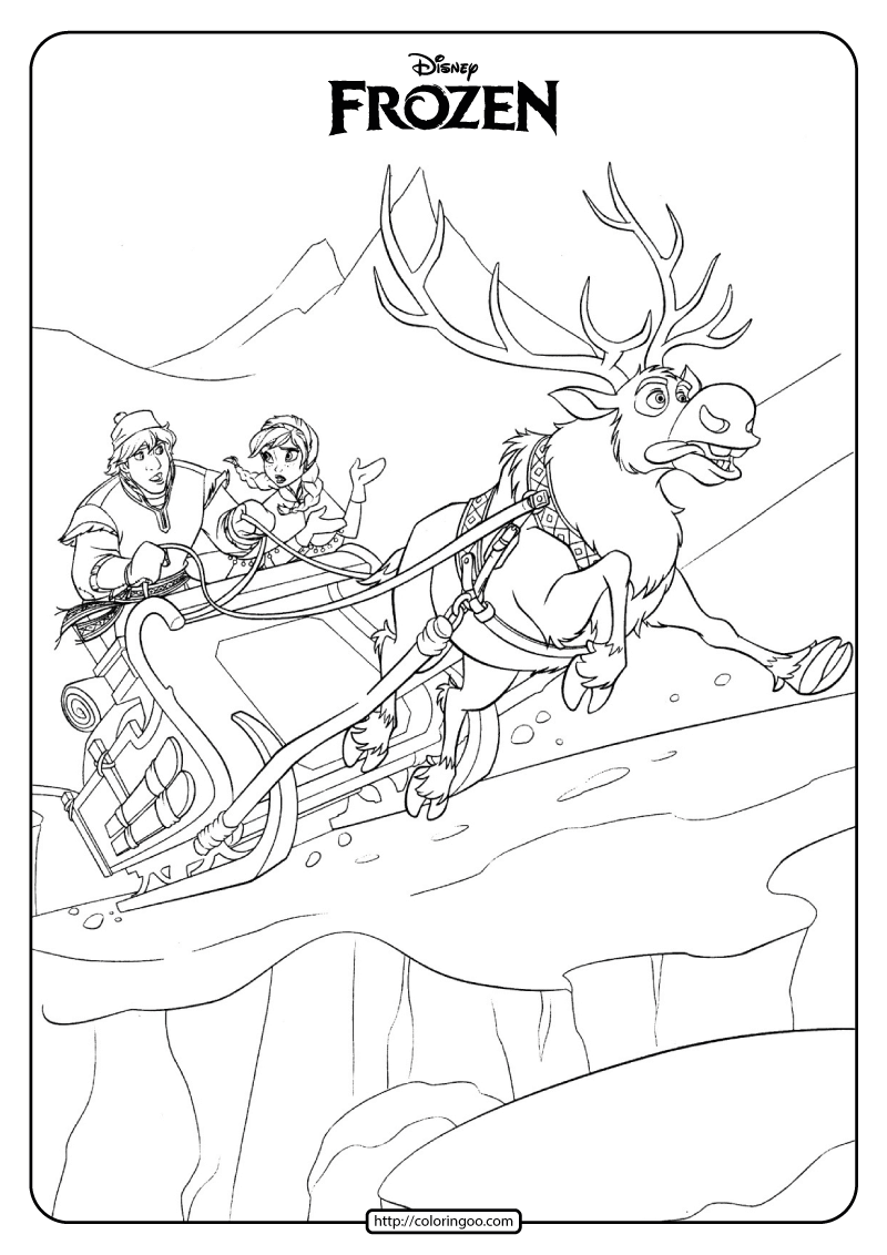 Disney Frozen Anna and Kristoff Coloring Pages 03 1