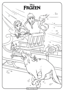 Disney Frozen Anna and Kristoff Coloring Pages 04