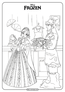 Disney Frozen Anna and Kristoff Coloring Pages 05