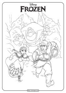 Disney Frozen Anna and Kristoff Coloring Pages