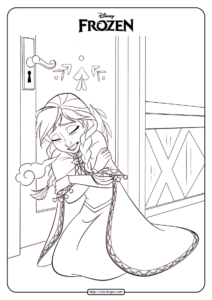 Disney Frozen Anna Coloring Pages Book 02