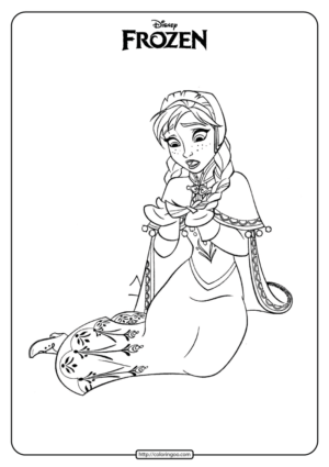 Disney Frozen Anna Coloring Pages Book 03