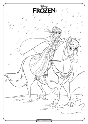 Disney Frozen Anna Coloring Pages Book 05
