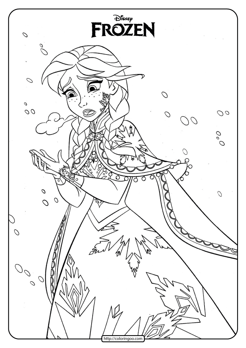 Disney Frozen Anna Coloring Pages Book
