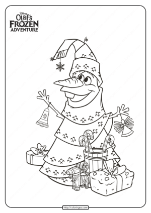 Disney Olaf's Frozen Adventure Coloring Pages 01