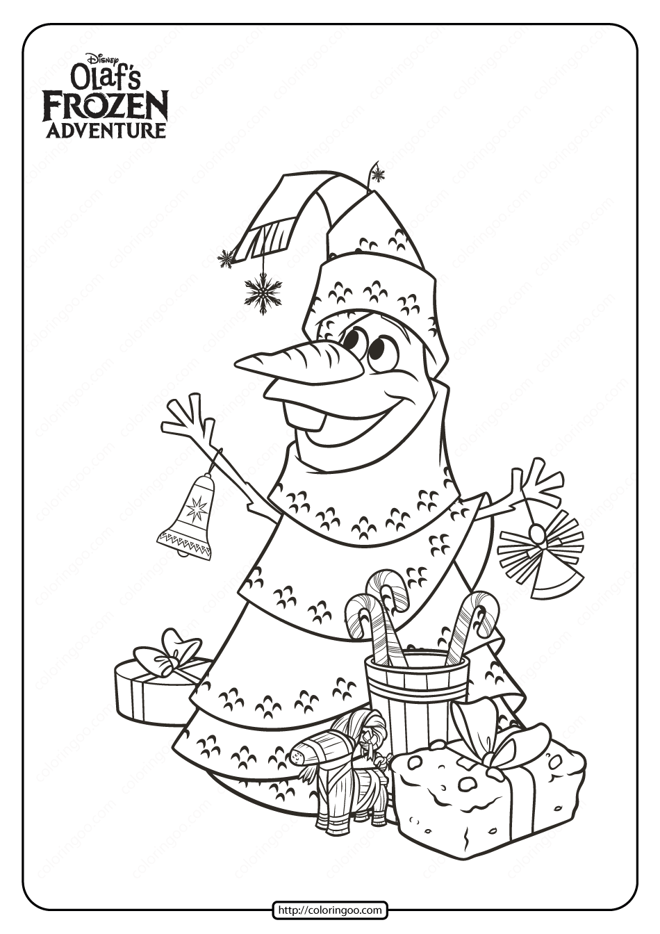- Disney Olaf's Frozen Adventure Coloring Pages 01