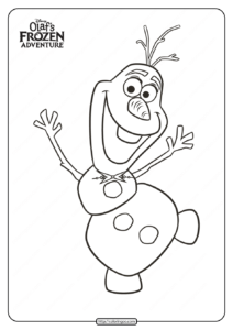 Disney Olaf's Frozen Adventure Coloring Pages 03