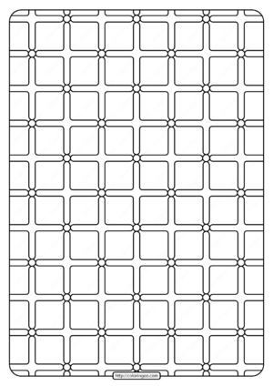 Free Printable Geometric Pattern PDF Book 001