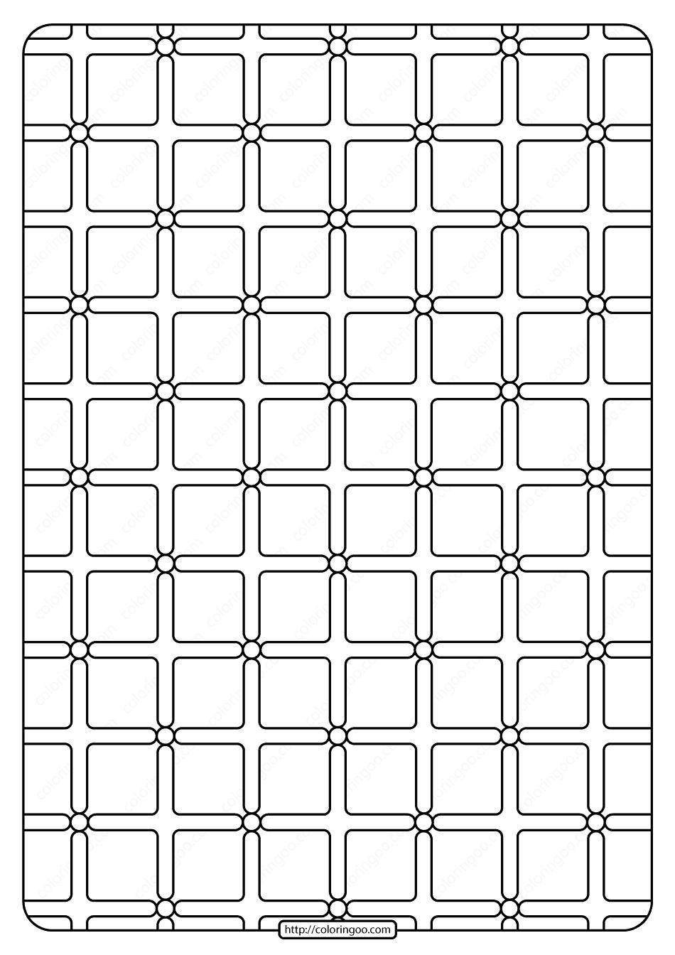 Free Printable Geometric Pattern PDF Book 001