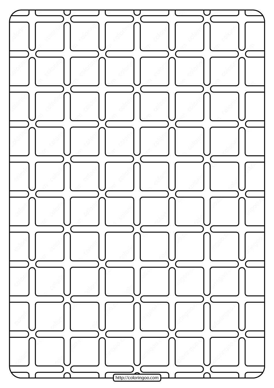 Free Printable Geometric Pattern PDF Book 002