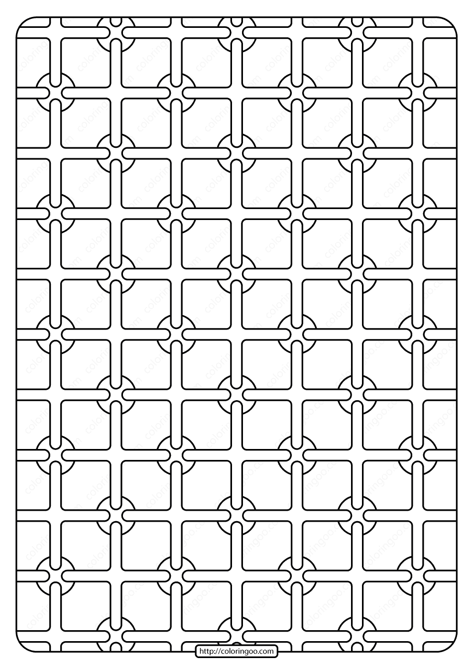 Free Printable Geometric Pattern PDF Book 003