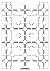 Free Printable Geometric Pattern PDF Book 004