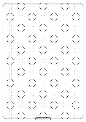 Free Printable Geometric Pattern PDF Book 004