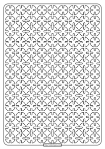 Free Printable Geometric Pattern PDF Book 006