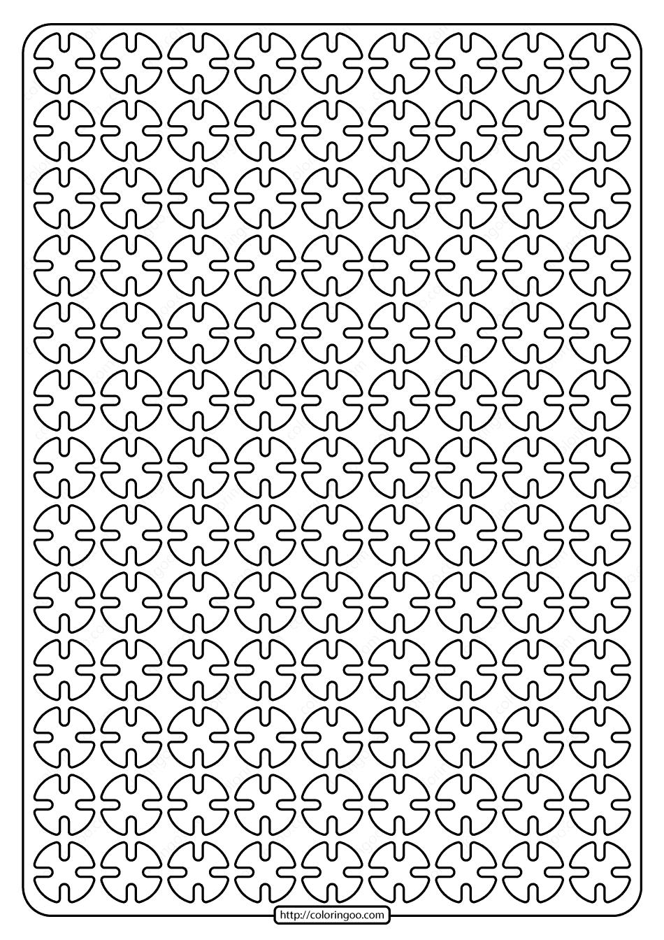 Free Printable Geometric Pattern PDF Book 006