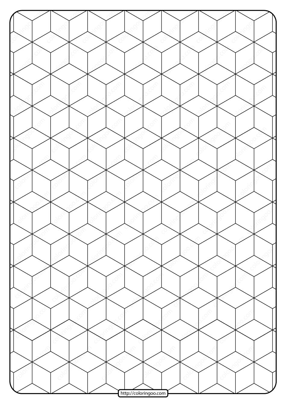 Free Printable Geometric Pattern PDF Book 007