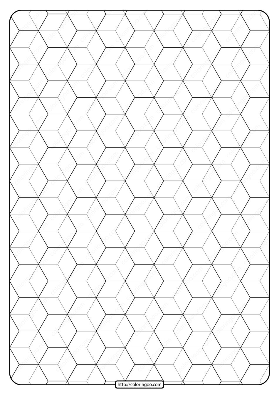 Free Printable Geometric Pattern PDF Book 008