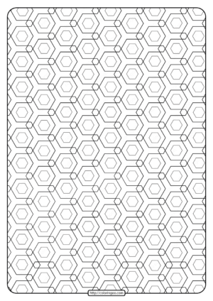 Free Printable Geometric Pattern PDF Book 010