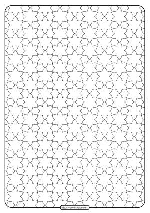 Free Printable Geometric Pattern PDF Book 013