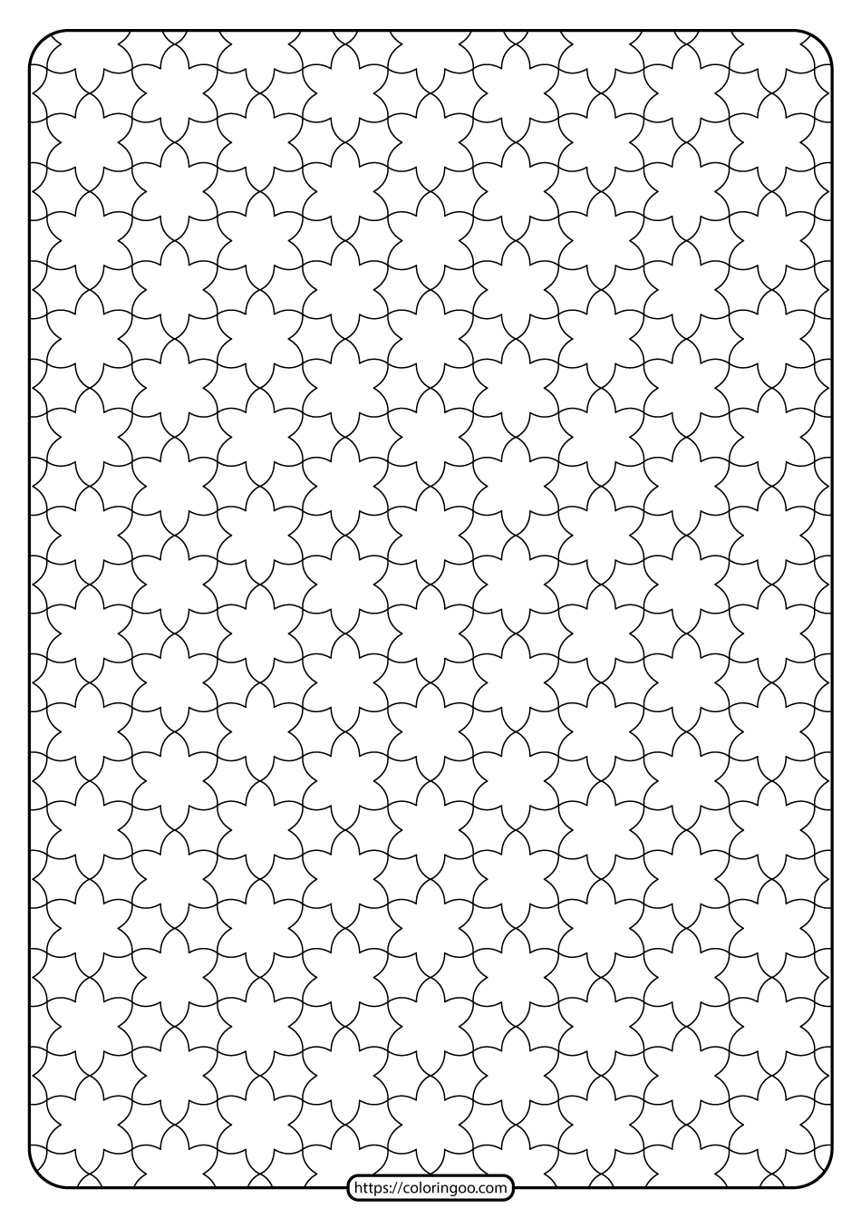 Free Printable Geometric Pattern PDF Book 013