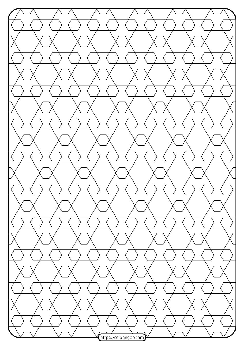 Free Printable Geometric Pattern PDF Book 015