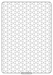 Free Printable Geometric Pattern PDF Book 016