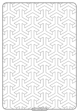 Free Printable Geometric Pattern PDF Book 011
