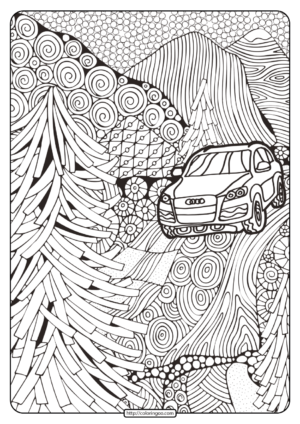 Printable Audi Cars Coloring Book & Page - 02