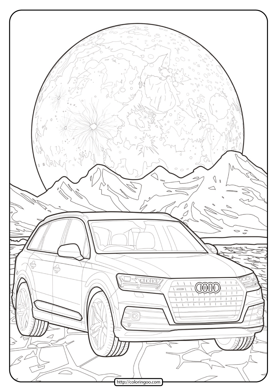 Printable Audi Cars Coloring Book & Page - 03