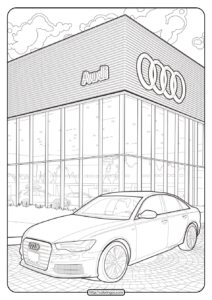 Printable Audi Cars Coloring Book & Page - 04