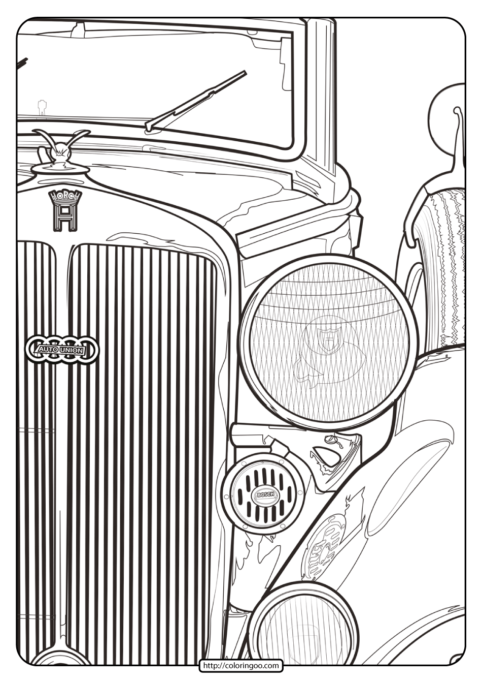 Printable Audi Cars Coloring Book & Page - 06