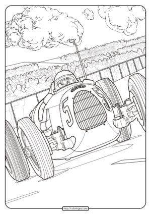 Printable Audi Cars Coloring Book & Page - 08