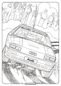 Printable Audi Cars Coloring Book & Page - 09