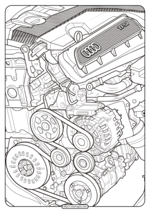 Printable Audi Cars Coloring Book & Page - 10