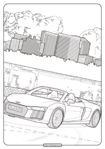 Printable Audi Cars Coloring Book & Page - 11