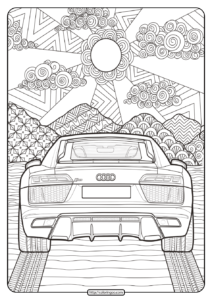 Printable Audi Cars Coloring Book & Page - 13