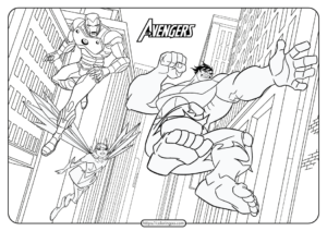 Printable The Avengers Coloring Book and Pages 01