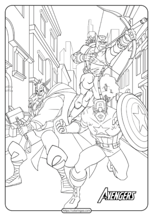 Printable The Avengers Coloring Book and Pages 02