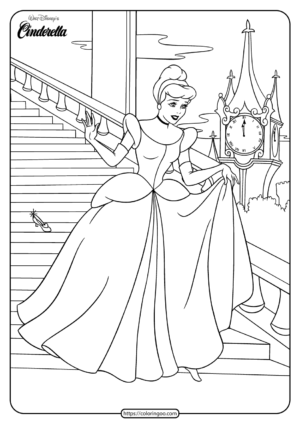 Printable Cinderella Coloring Book and Pages 01
