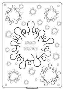 Printable Covid 19 Virus Coloring Page