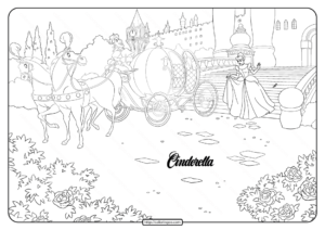 Printable Disney Cinderella Carriage Coloring Page