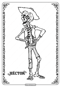 Printable Disney Coco Hector Coloring Pages