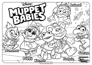 Printable Disney Muppet Babies PDF Coloring Book