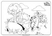 Printable Disney Winnie the Pooh Coloring Pages