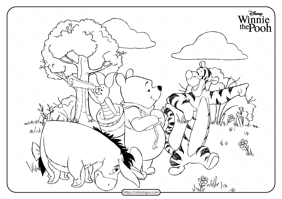 Disney Colouring Book For Kids: Winnie The Pooh Coloring Pages | 671x950