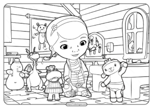 Printable Doctor Mcstuffins Coloring Page